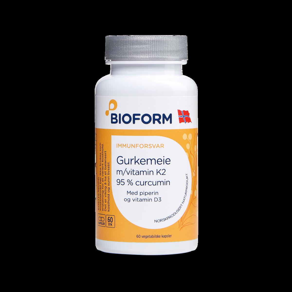 Gurkemeje (m/vitamin K2 og D3)